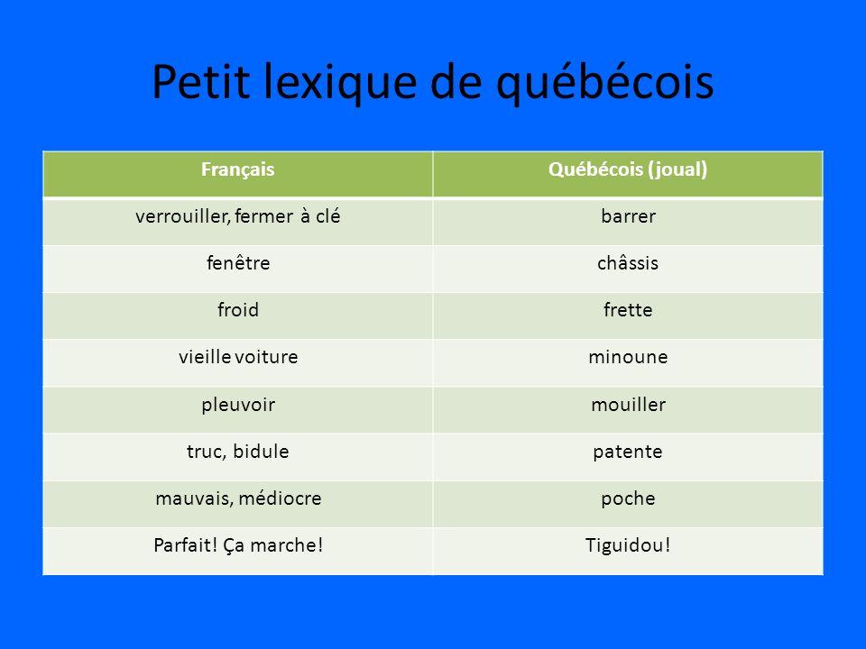 Petit lexique de québécois