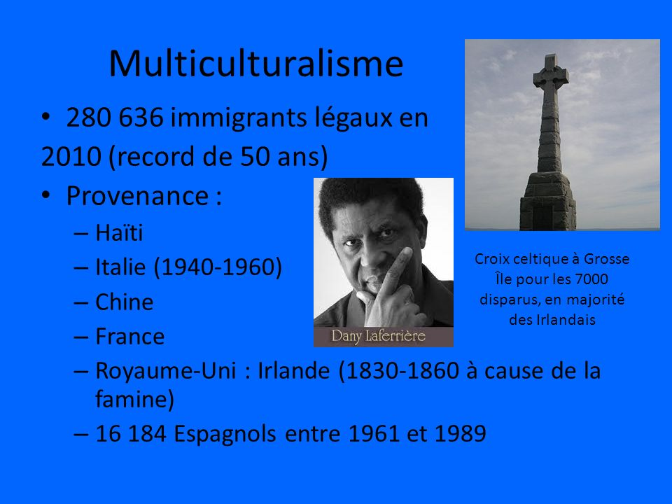 Multiculturalisme immigrants légaux en 2010 (record de 50 ans)