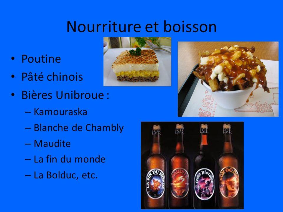 Nourriture et boisson Poutine Pâté chinois Bières Unibroue :