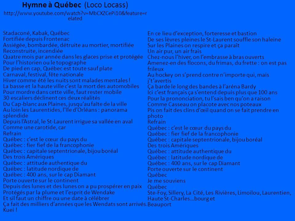 Hymne à Québec (Loco Locass)
