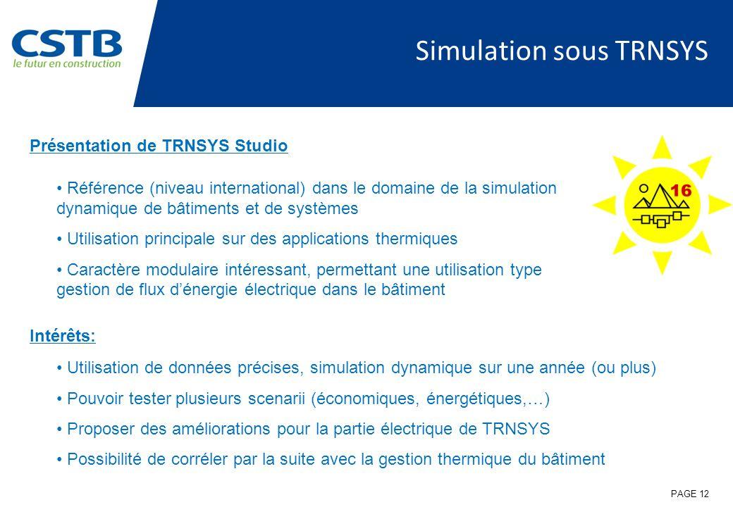 Simulation sous TRNSYS