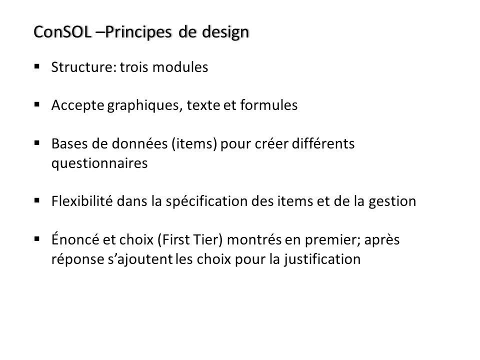ConSOL –Principes de design