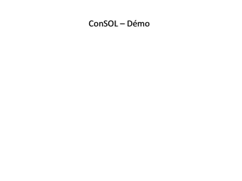 ConSOL – Démo