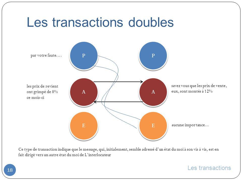 Les transactions doubles