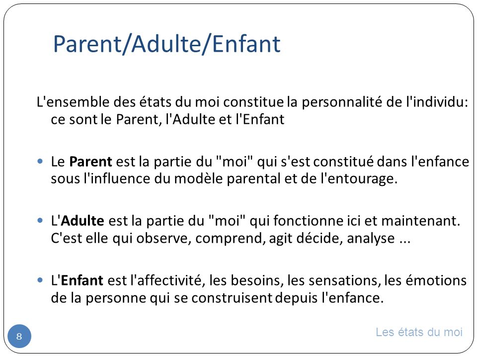 Parent/Adulte/Enfant