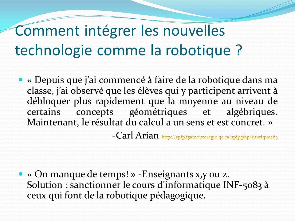 Comment intégrer les nouvelles technologie comme la robotique