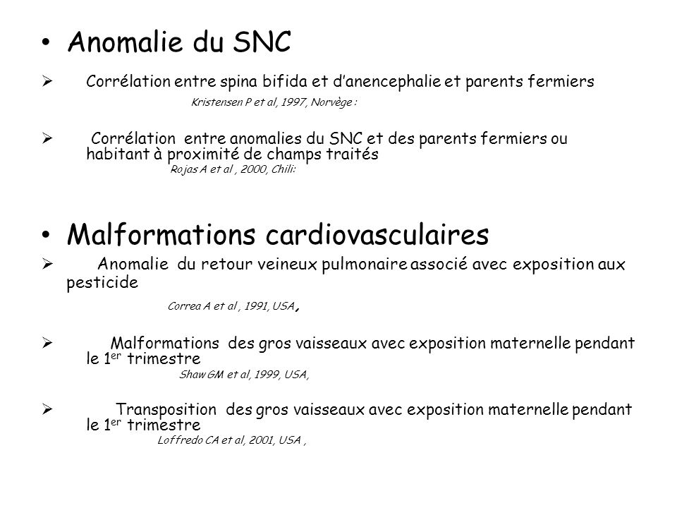 Malformations cardiovasculaires
