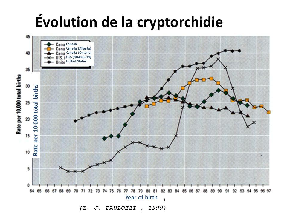 Évolution de la cryptorchidie