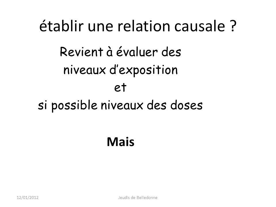 établir une relation causale