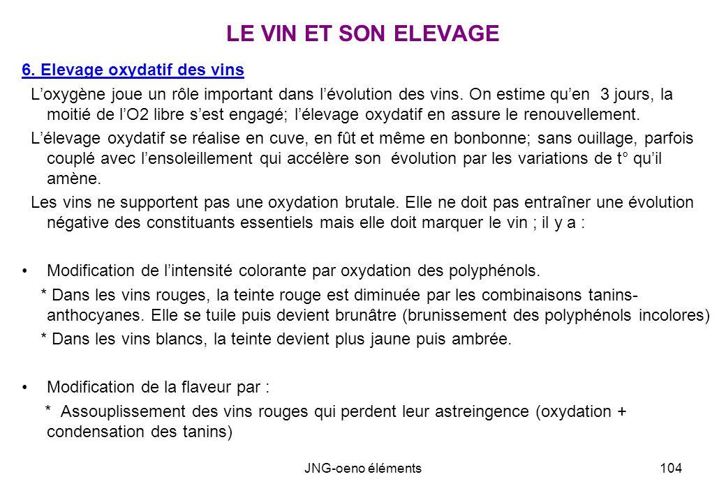 LE VIN ET SON ELEVAGE 6. Elevage oxydatif des vins