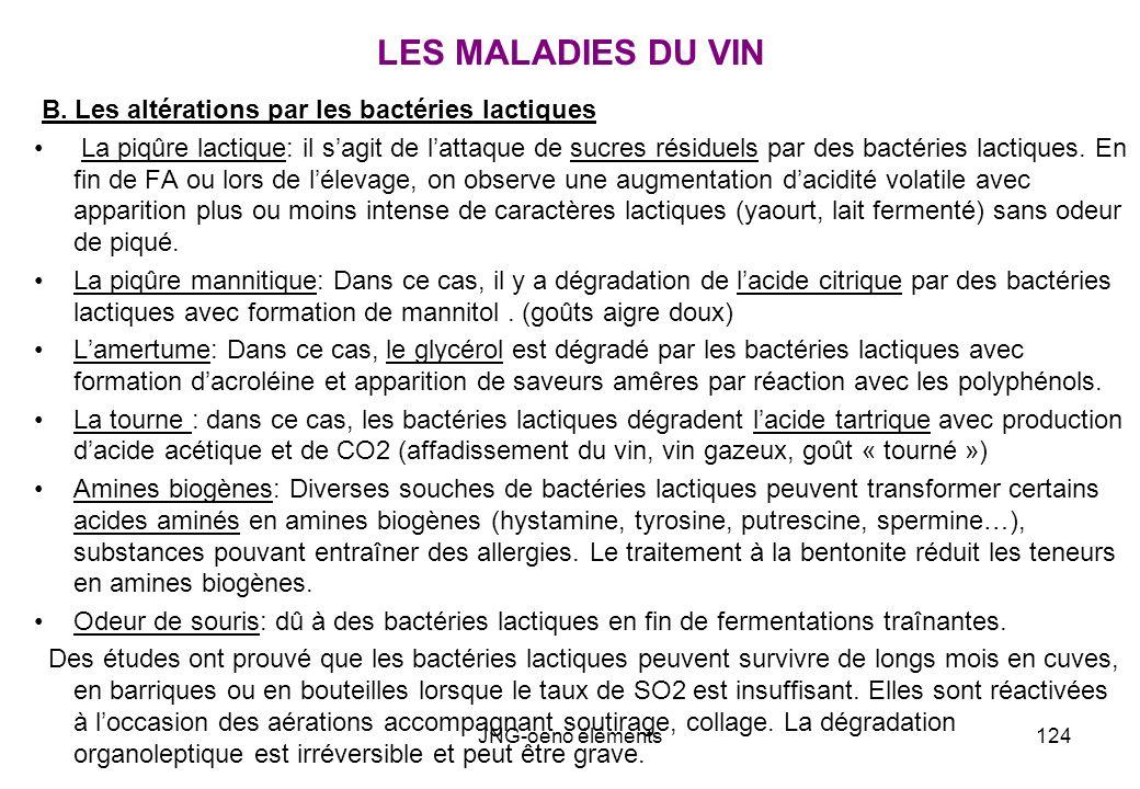 LES MALADIES DU VIN B. Les altérations par les bactéries lactiques