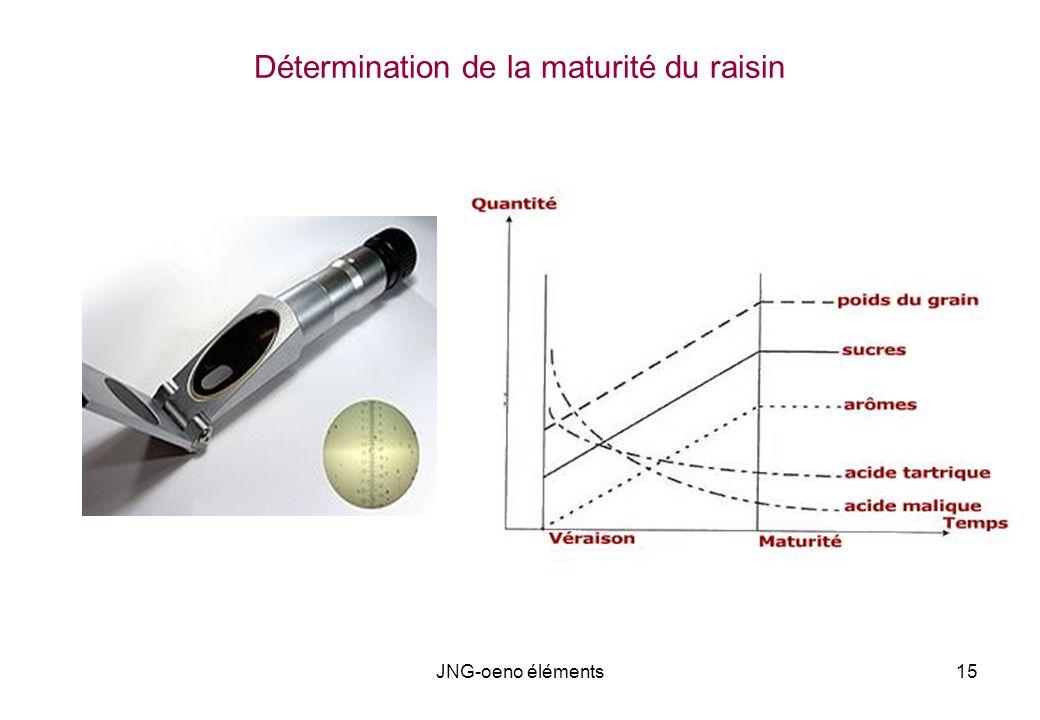 Détermination de la maturité du raisin