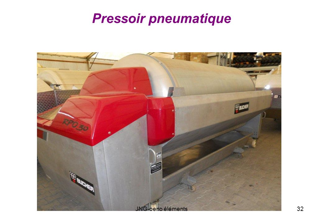 Pressoir pneumatique JNG-oeno éléments