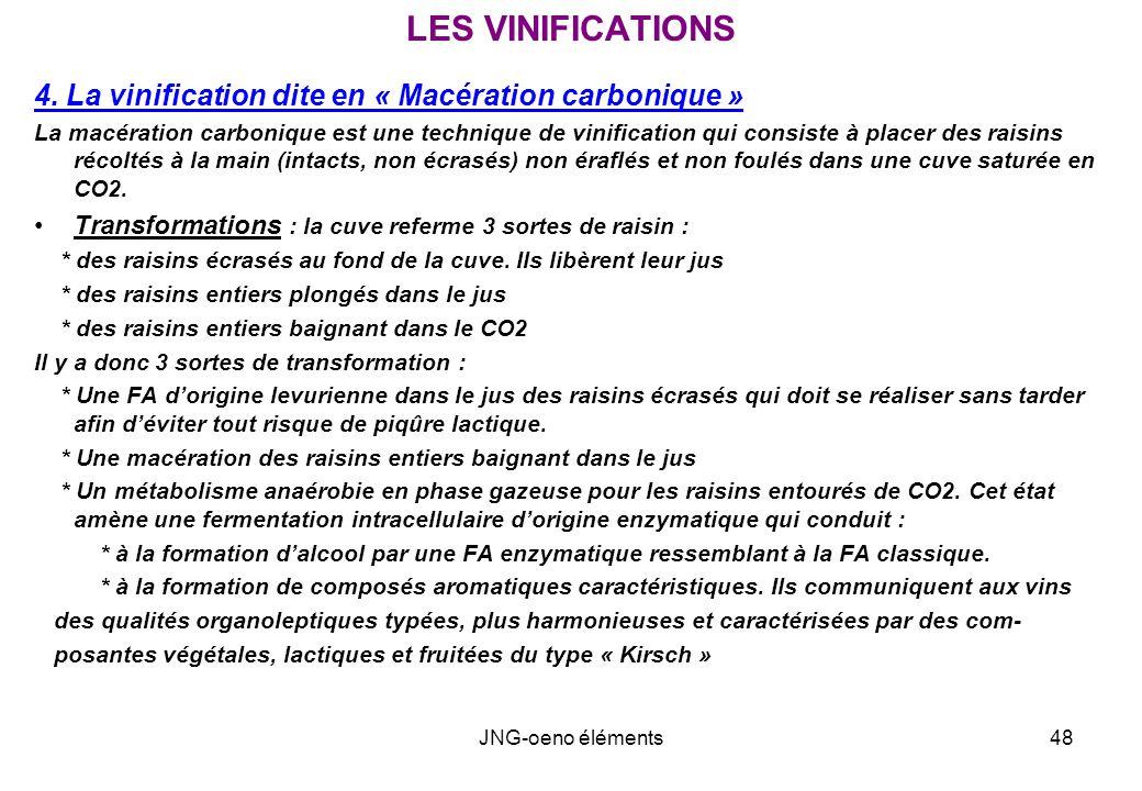 LES VINIFICATIONS 4. La vinification dite en « Macération carbonique »