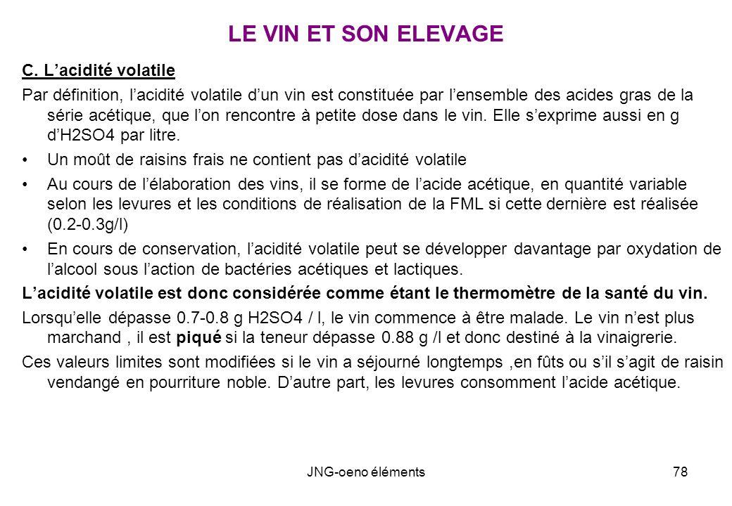 LE VIN ET SON ELEVAGE C. L'acidité volatile