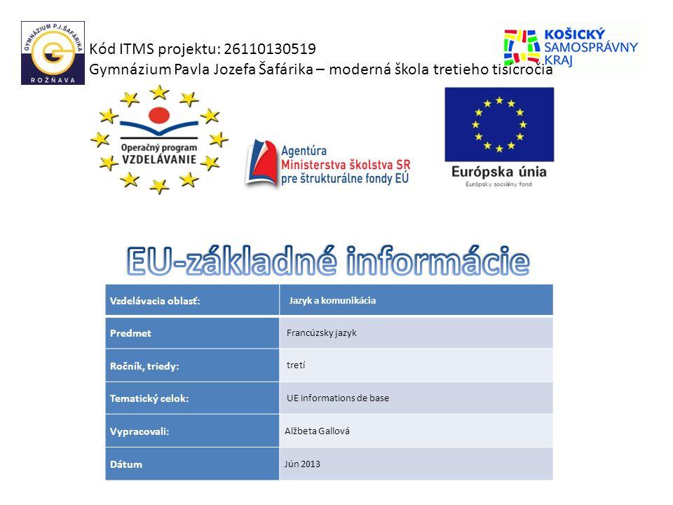EU-základné informácie