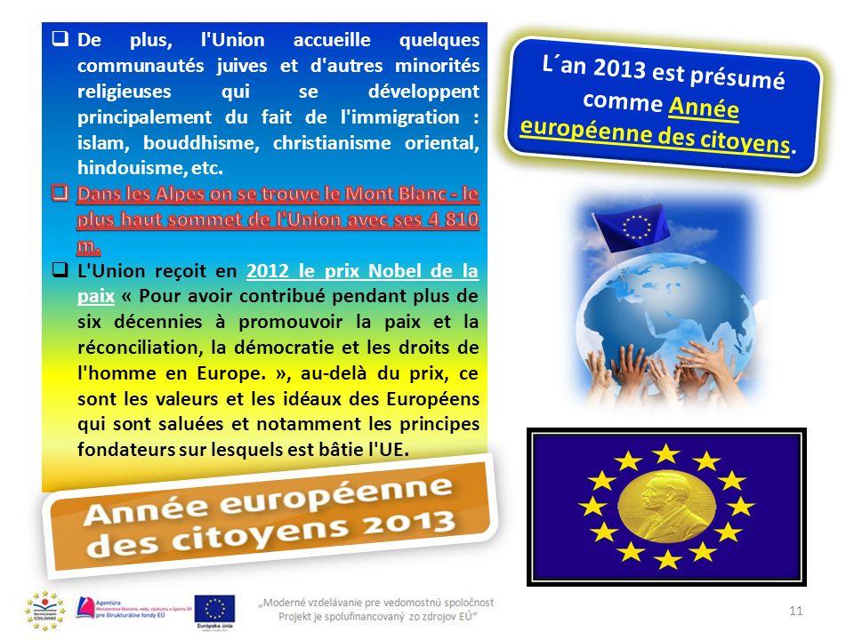 L´an 2013 est présumé comme Année européenne des citoyens.