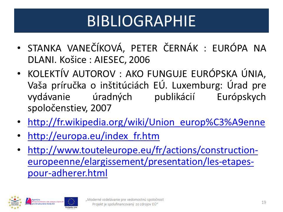 BIBLIOGRAPHIE STANKA VANEČÍKOVÁ, PETER ČERNÁK : EURÓPA NA DLANI. Košice : AIESEC, 2006.