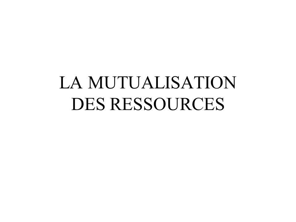 LA MUTUALISATION DES RESSOURCES