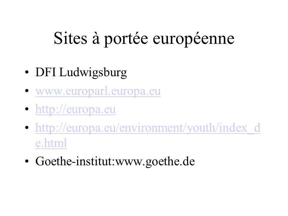 Sites à portée européenne