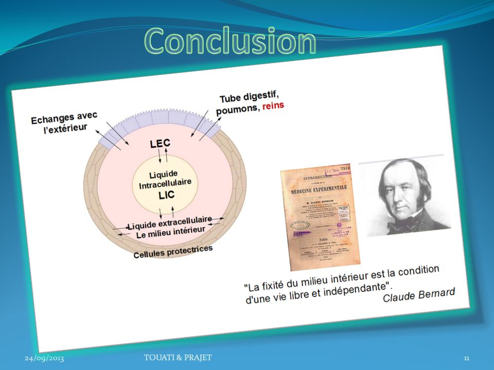 Conclusion 24/09/2013 TOUATI & PRAJET