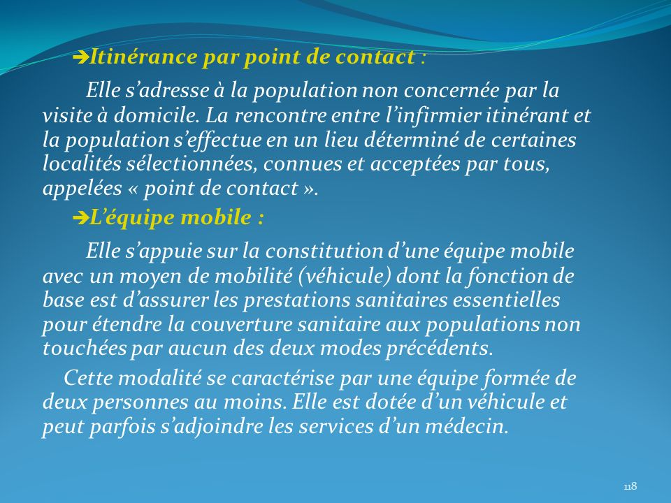 Itinérance par point de contact :