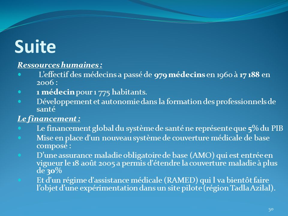 Suite Ressources humaines :