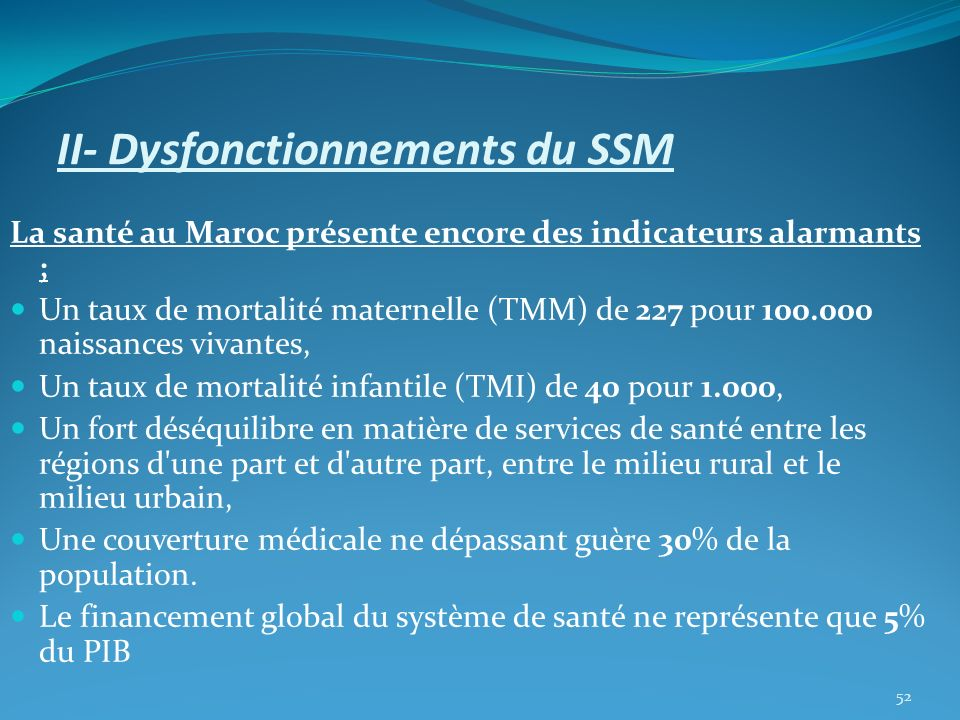 II- Dysfonctionnements du SSM