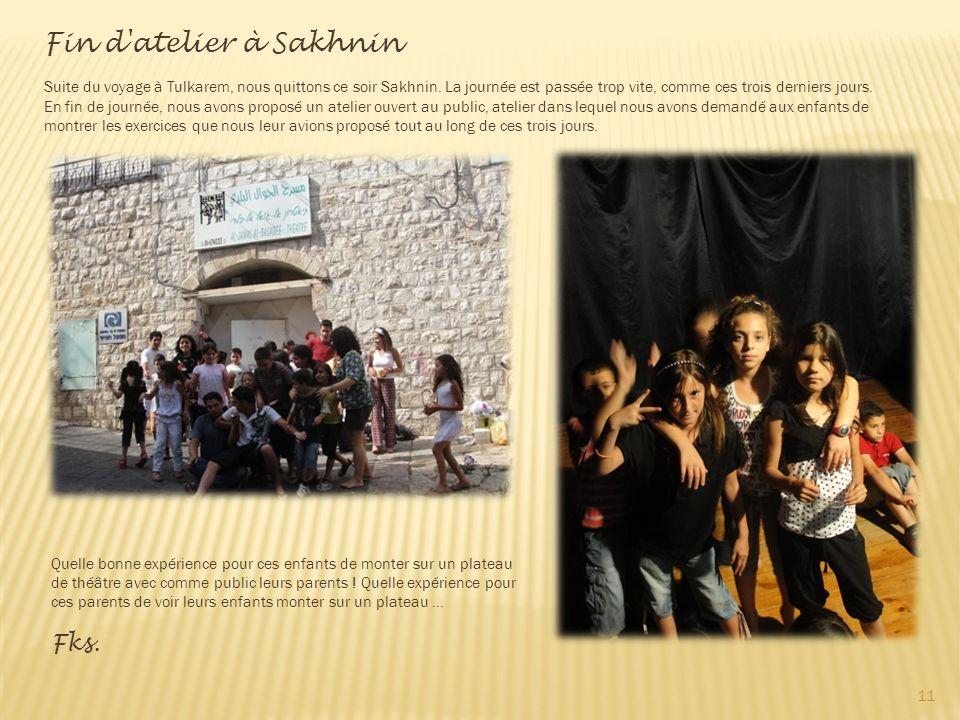 Fin d atelier à Sakhnin Fks.