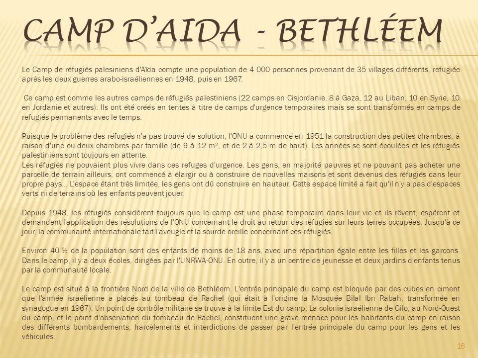 Camp d'Aida - Bethléem