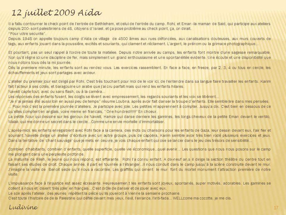 12 juillet 2009 Aida