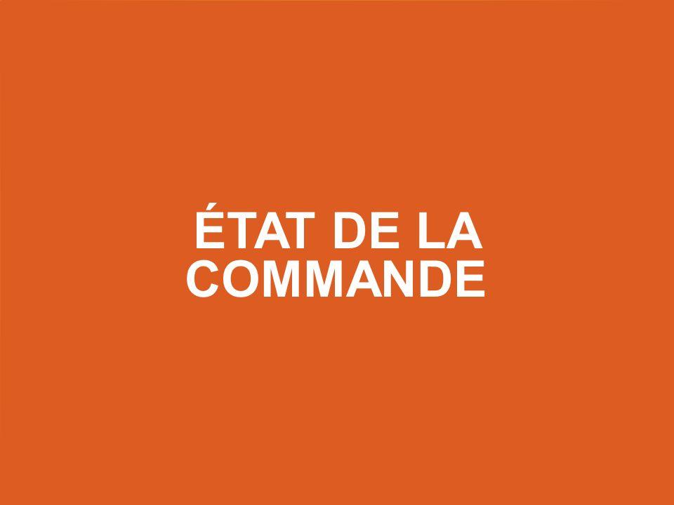 État de la commande Title slide – use this as a title slide in between other slides.