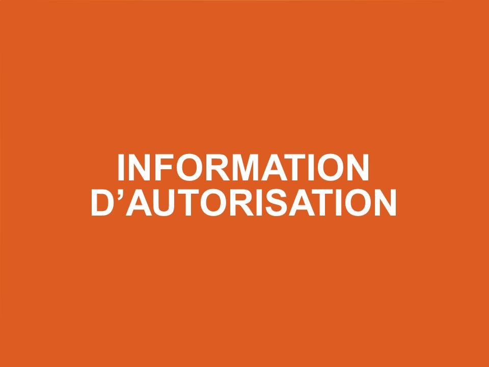 Information d'autorisation