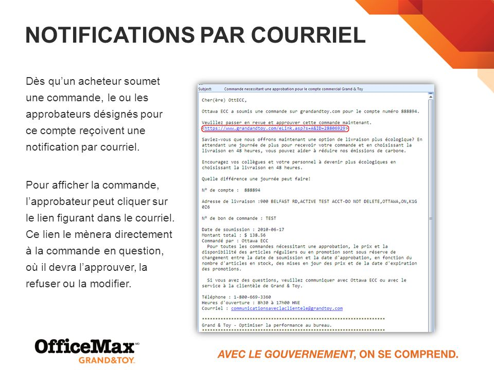Notifications par courriel