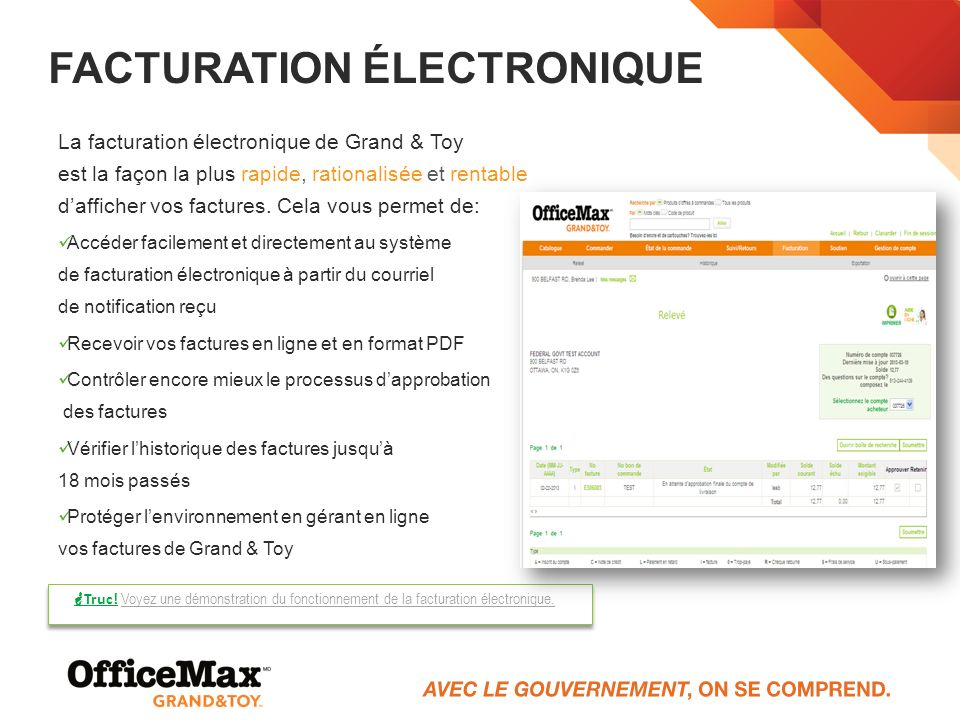 Facturation électronique