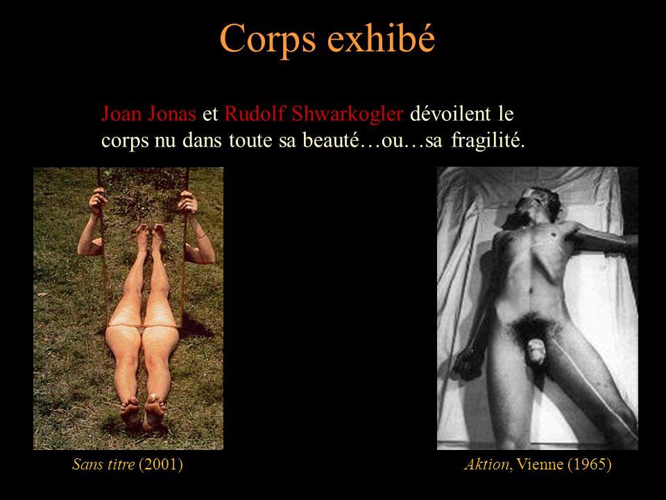 Corps exhibé Joan Jonas et Rudolf Shwarkogler dévoilent le corps nu dans toute sa beauté…ou…sa fragilité.