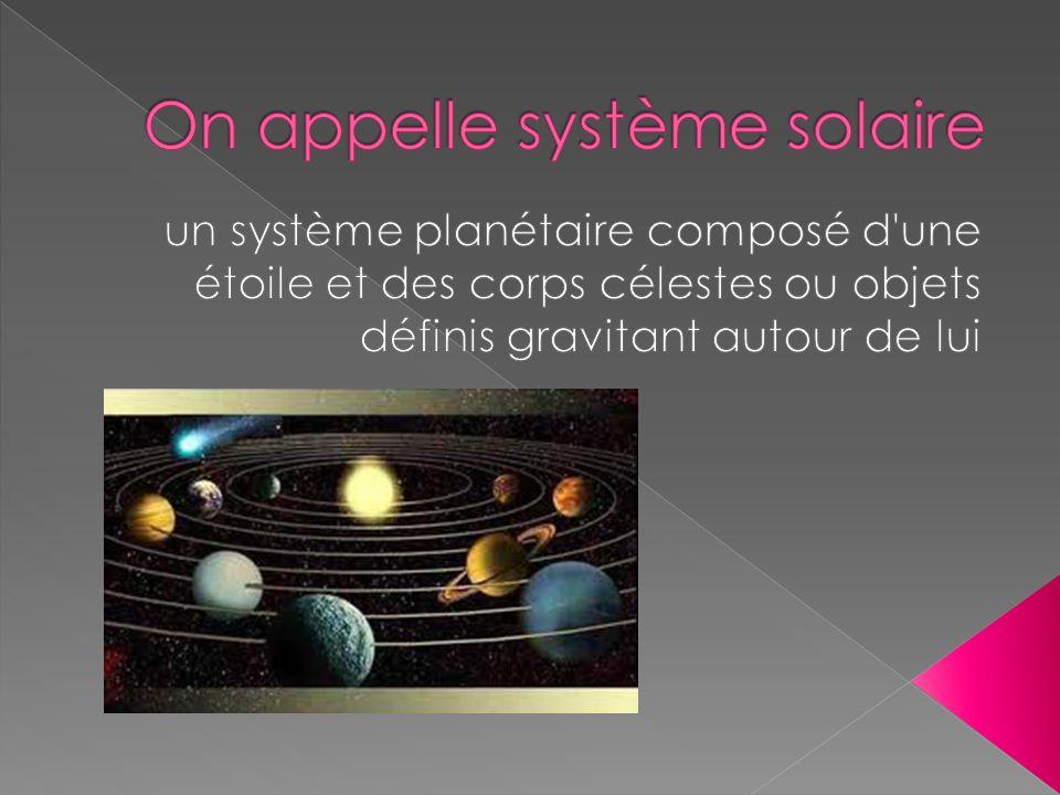 On appelle système solaire