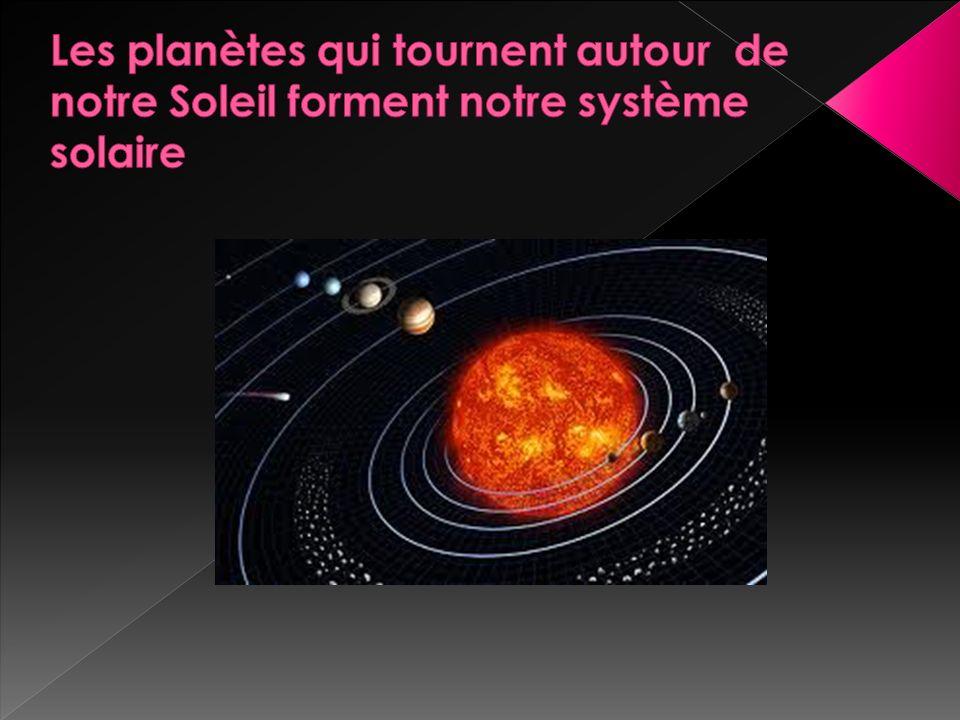 Les planètes qui tournent autour de notre Soleil forment notre système solaire