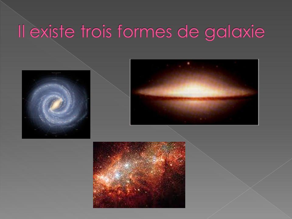 Il existe trois formes de galaxie