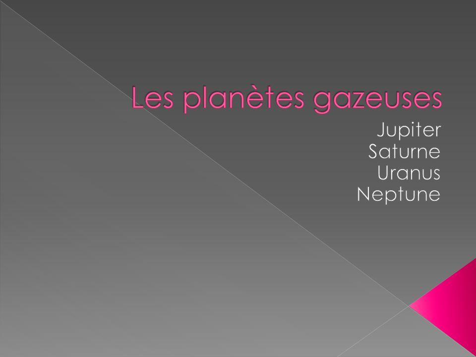 Jupiter Saturne Uranus Neptune