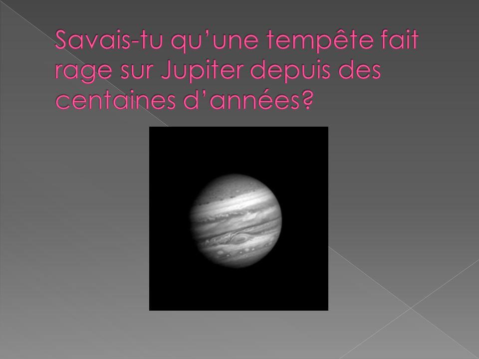Savais-tu qu'une tempête fait rage sur Jupiter depuis des centaines d'années