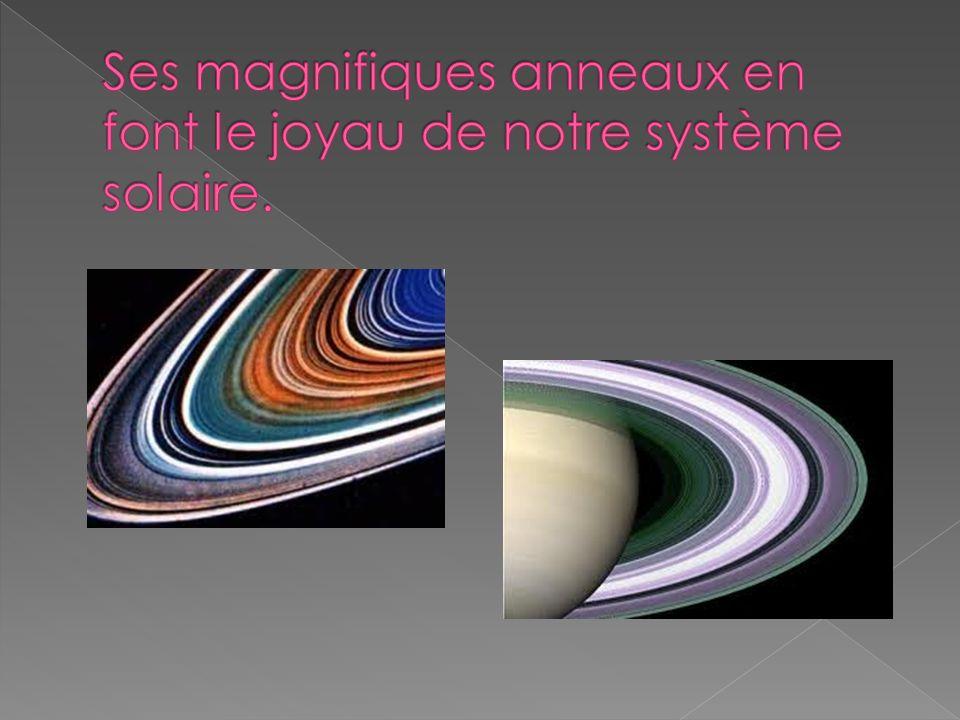 Ses magnifiques anneaux en font le joyau de notre système solaire.
