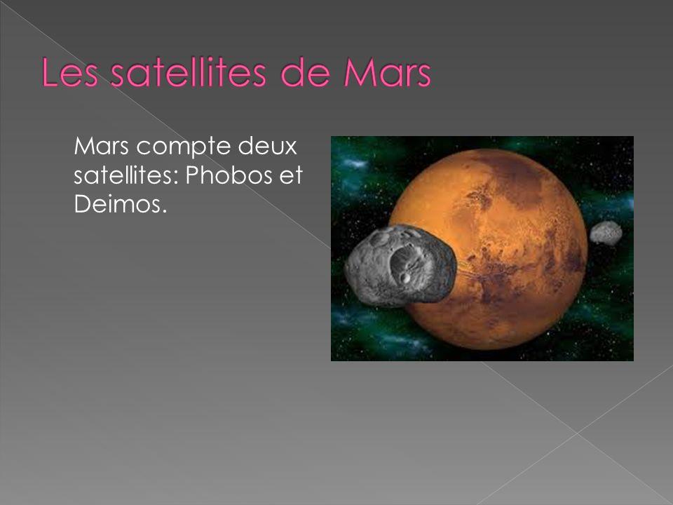 Les satellites de Mars Mars compte deux satellites: Phobos et Deimos.