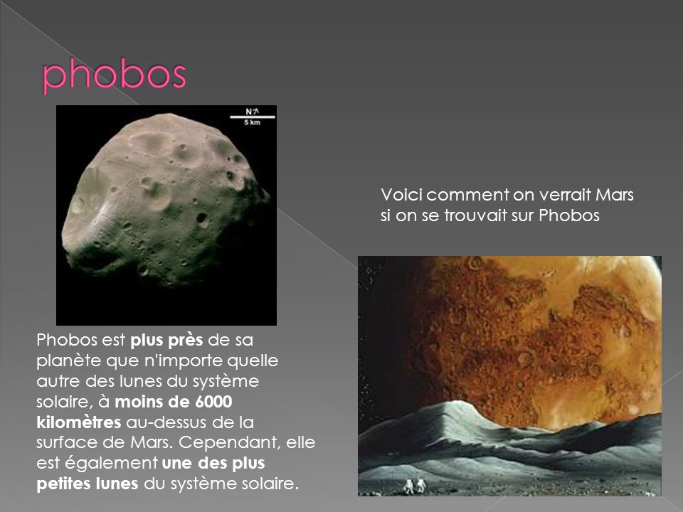 phobos Voici comment on verrait Mars si on se trouvait sur Phobos