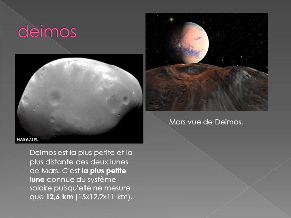 deimos Mars vue de Deimos.