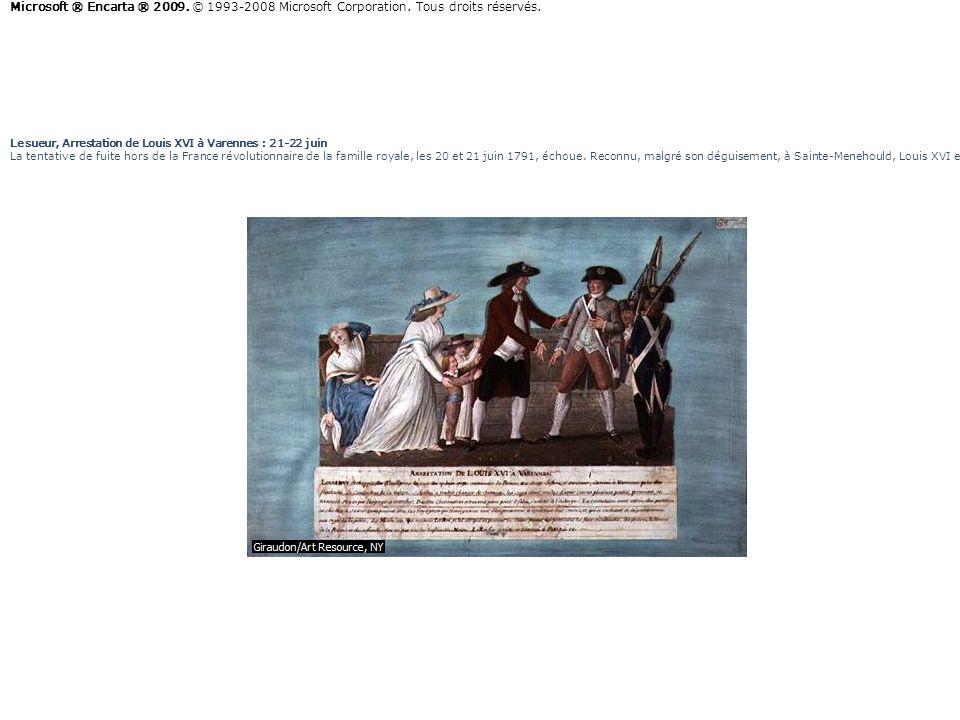 Lesueur, Arrestation de Louis XVI à Varennes : 21-22 juin