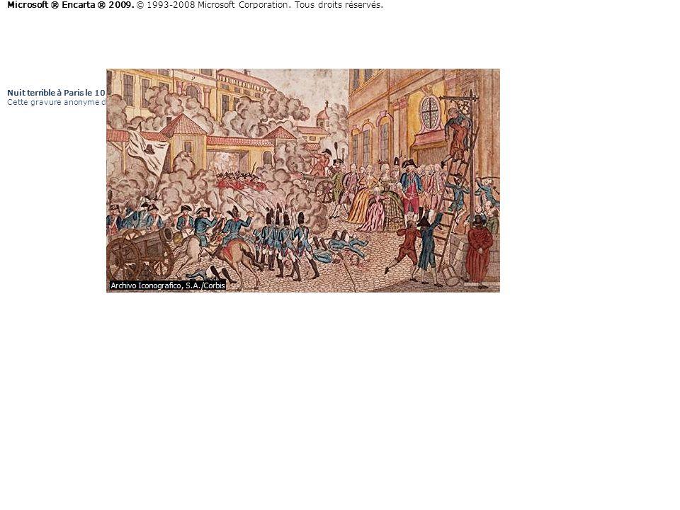 Nuit terrible à Paris le 10 août 1792