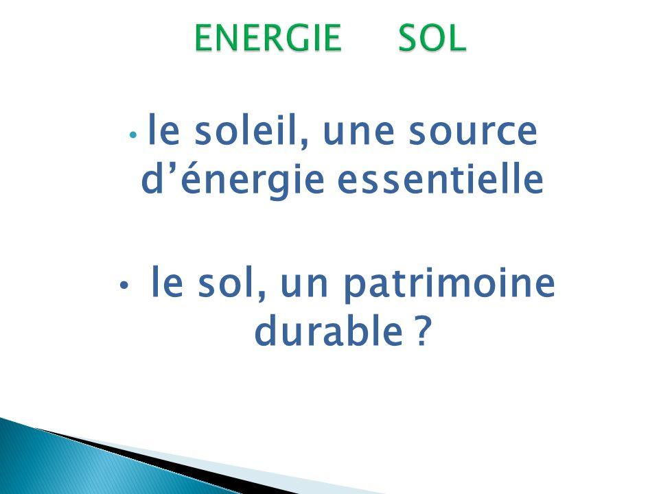 le soleil, une source d'énergie essentielle