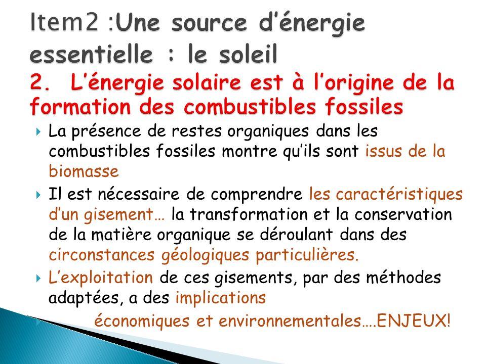 Item2 :Une source d'énergie essentielle : le soleil 2