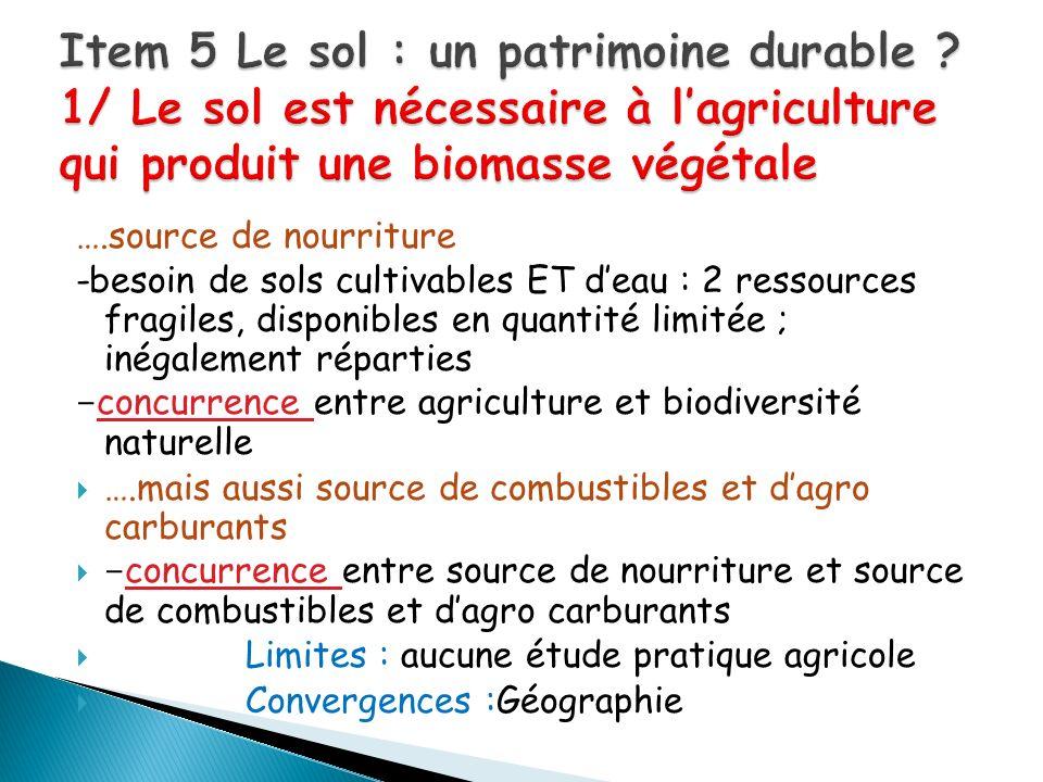 Item 5 Le sol : un patrimoine durable